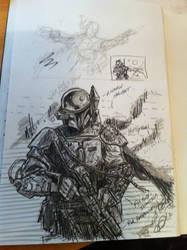 Boba Fett Sketch by odingraphics
