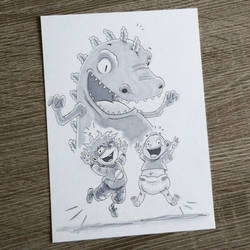 Rugrats - Tommy, Chuckie and Reptar