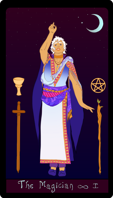 The Magician Tarot Card by marylizabetha