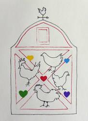Inktober: Chicken by marylizabetha