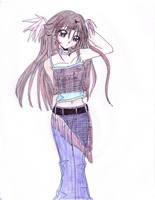 Anime girl by itsAkane