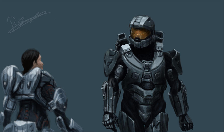Halo 4 Ending Painting By Pezsa On Deviantart