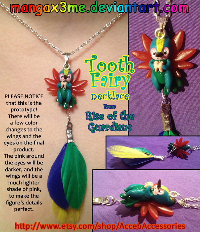 ROTG Necklace Tooth Fairy by MangaX3me