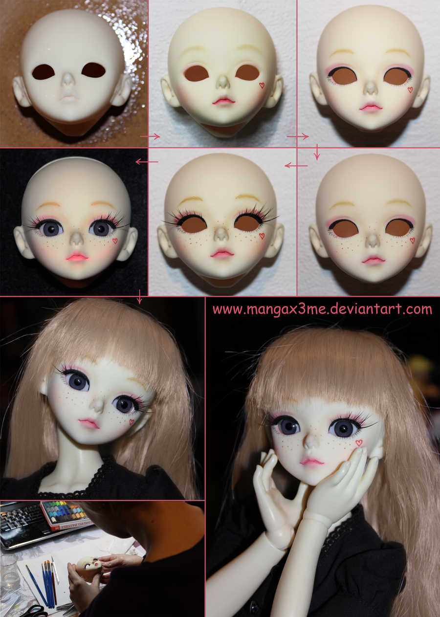 BJD step-by-step face-up by MangaX3me
