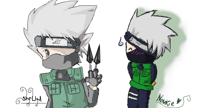 cute kakashi twins by IdiotTwins