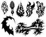 Tattoos I - Black Abstract