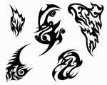Tattoos II - Black Abstract