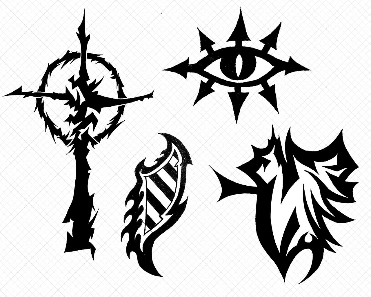 Tattoos V - Symbols by Eel-Ecurb on DeviantArt