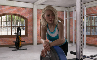 Tess in the Gym