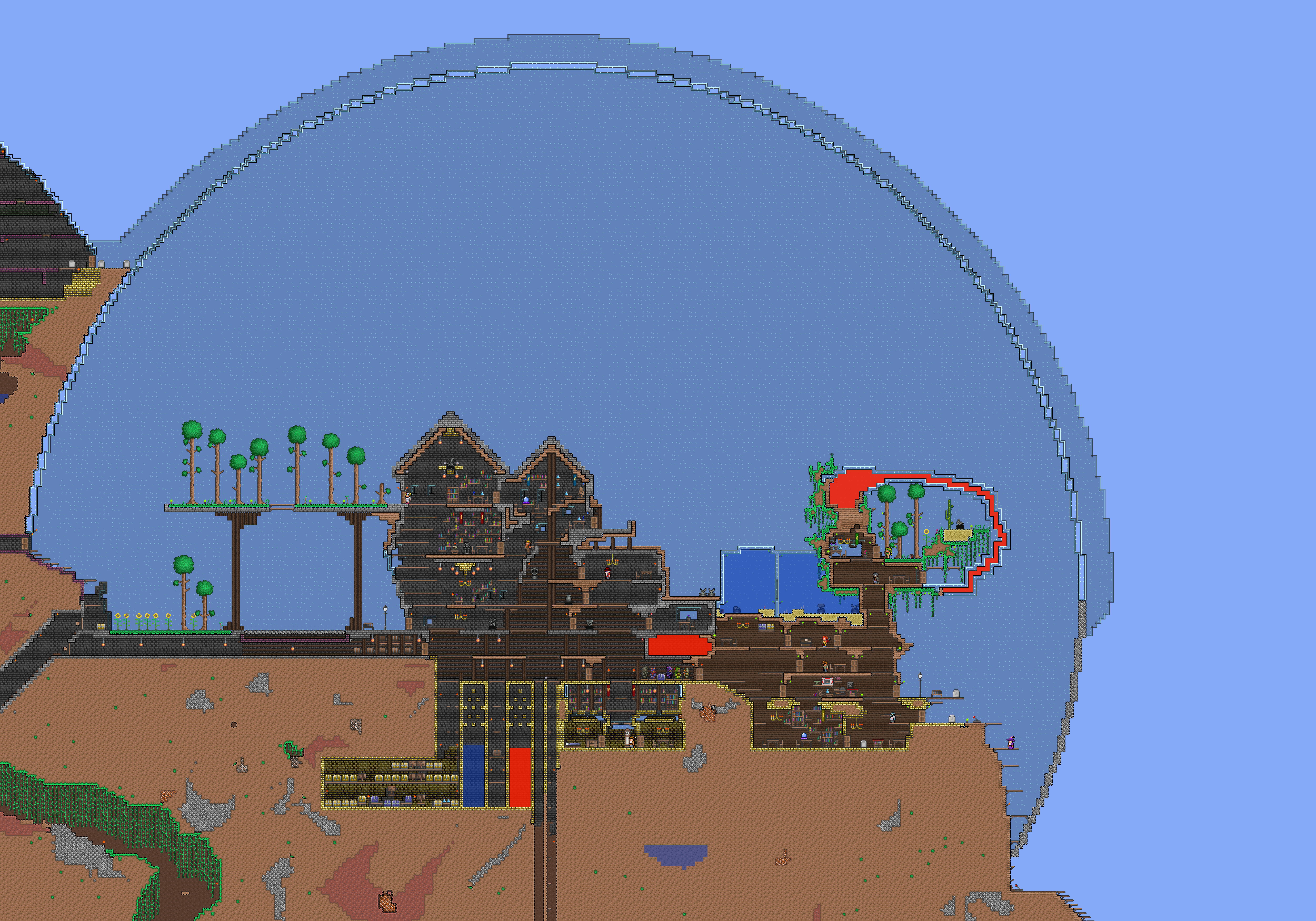 Terraria House Glass Orb 5000 X 3500 Pixels By 0odaredevilo0 On Deviantart