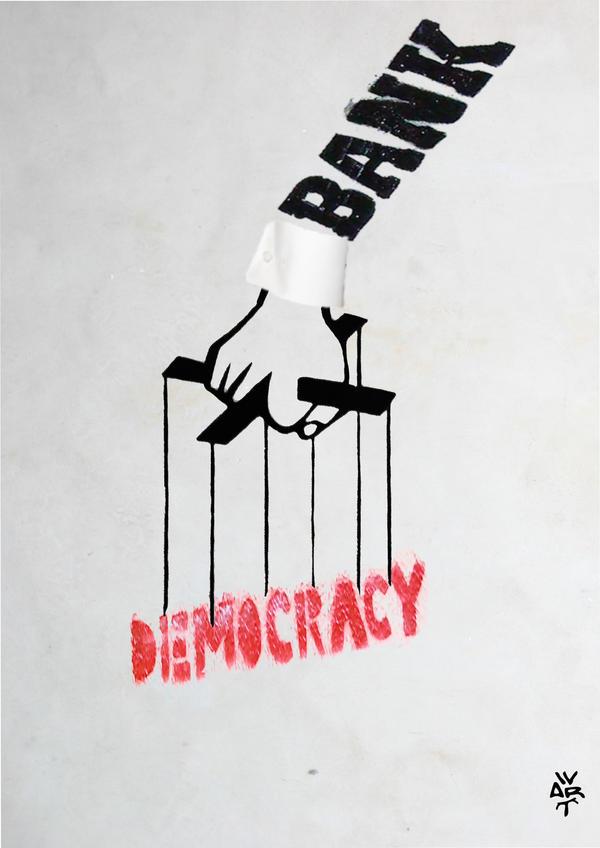 bank crisis democracy kakhunwart by kakhunwart
