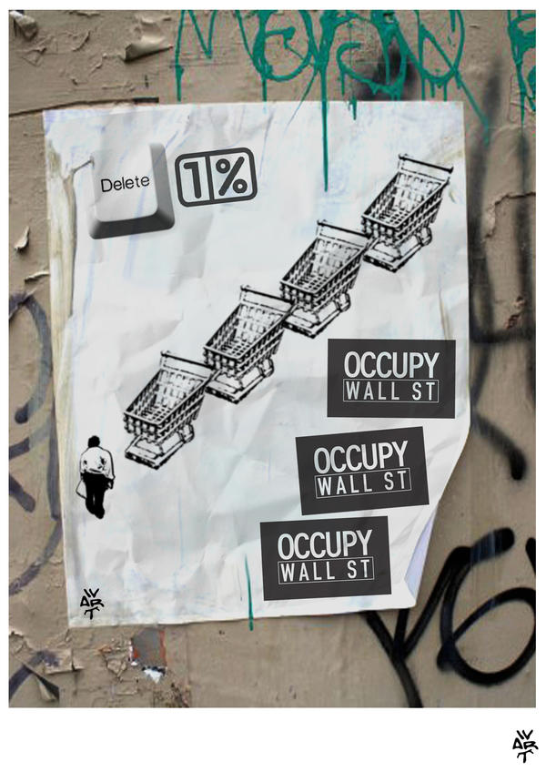 occupy wall street kakhun wart by kakhunwart