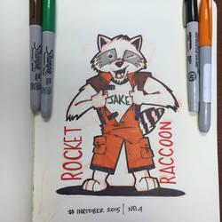 #inktober rocket raccoon by PWG44