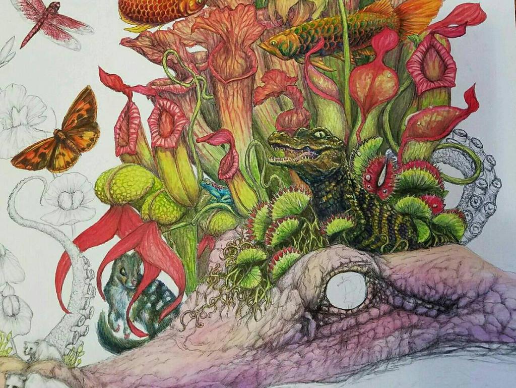 predatory- in progress, detail by SigridNeilsen