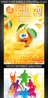 Crazy Friends Flyer Bundle, PSD Template