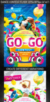 Dance Contest Flyer, PSD Template