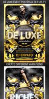 De Luxe Event Poster, PSD Template