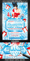 Famous New Year Flyer, PSD Template