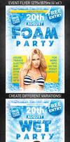 Foam Party Flyer, PSD Template