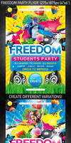 Freedom Party Flyer, PSD Template