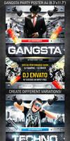 Gangsta Party Poster, PSD Template