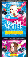 Glam House Flyer, PSD Template