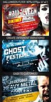 Halloween Night Flyer, PSD Template