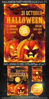 Halloween Party Template, PSD Template