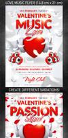 Love Music Flyer, PSD Template