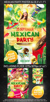 Mexican Party Template, PSD Template