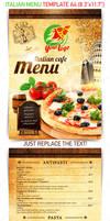 Italian menu template, PSD Template