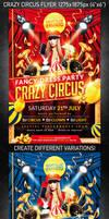 Crazy Circus Party Flyer, PSD Template