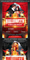 Halloween Thriller Night Party Flyer, PSD Template