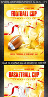 Sports Competition Poster, PSD Template