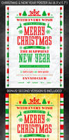 Christmas and New Year poster vol.2, PSD Template