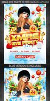 Xmas Eve Party Flyer, PSD Template