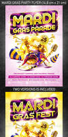 Mardi Gras party flyer vol.2, PSD Template