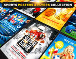 Sports posters and flyers collection