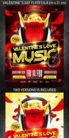 Valentines love music flyer vol4, PSD Template