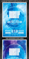 Dubstep party flyer, PSD Template