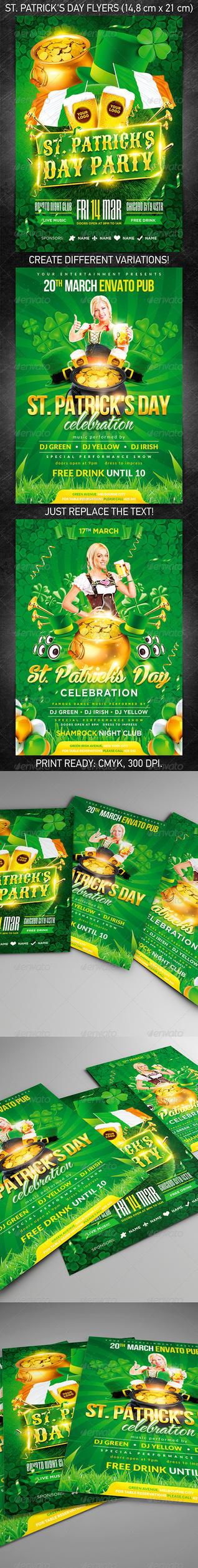 St. Patrick's Day Flyer Bundle, PSD Template by 4ustudio