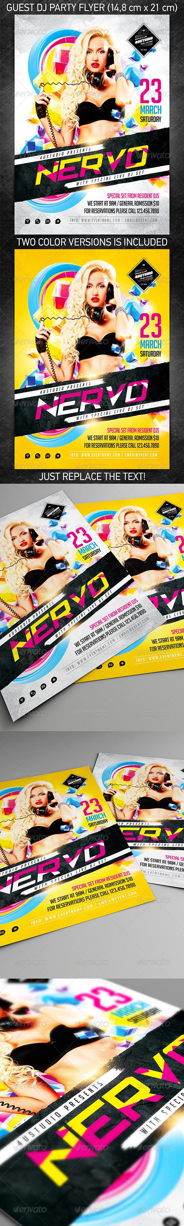 Guest DJ party flyer vol3, PSD Template