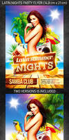 Latin nights party flyer, PSD Template