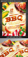 BBQ party flyer vol.2, PSD Template