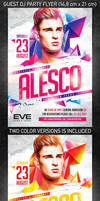 Guest DJ Party Flyer, PSD Template