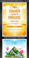 Summer Vacation Flyer Bundle, PSD Template