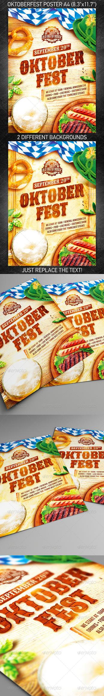 Oktoberfest Festival Poster vol.3, PSD Template by 4ustudio