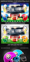 American Football Game Flyer vol.3, PSD Template