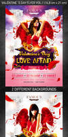Valentine`s Day Party Flyer vol.1, PSD Template