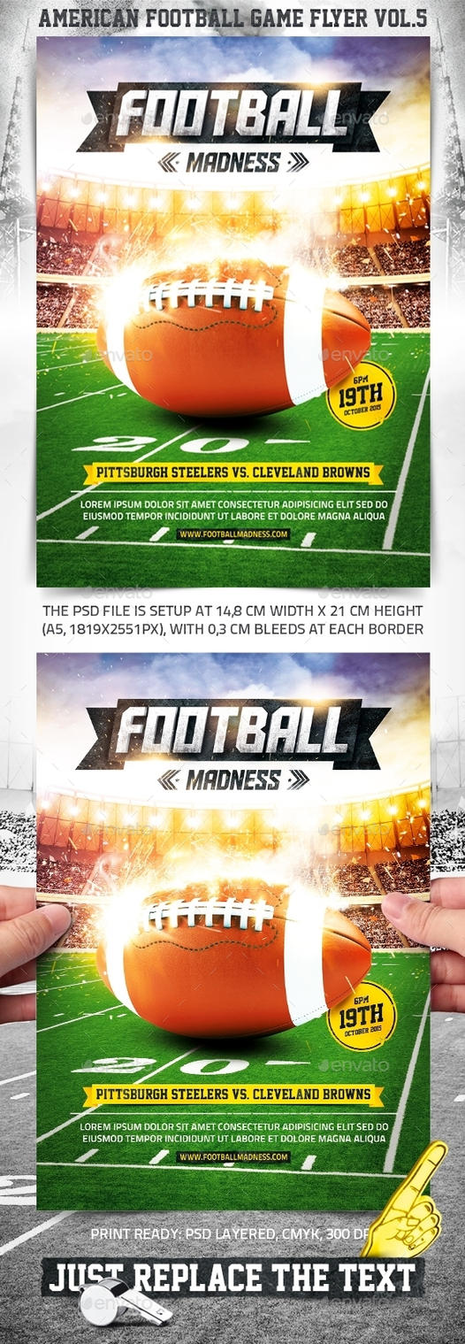 American Football Game Flyer vol.5 by 4ustudio